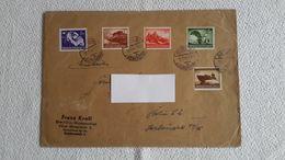Briefumschlag Dina 5 Stempel 5 Briefmarken 1944 Berin Siemensstadt - 1939-45