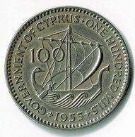 CHYPRE / CYPRUS / 100 MILS / 1955 - Cyprus