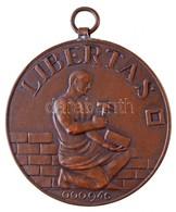 """DN """"Libertas 000946"""" Br, Fülezett Szabadkőműves Páholy Emlékérem (50mm) T:1- - Monnaies & Billets"""