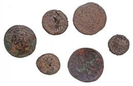 """Magyarország 1172-1196. Rézpénz Cu """"III. Béla"""" + Római Birodalom 5db-os Vegyes, Tisztítatlan érmetétel T:2-,3  Hungary 1 - Monnaies & Billets"""