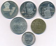 """6xklf Vegyes érmetétel, Közte 1983. 100Ft Cu-Ni """"Széchenyi István"""" T:1-2 - Monnaies & Billets"""