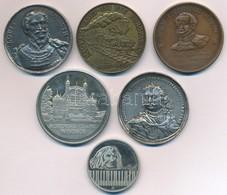 """6xklf Vegyes Emlékérem-tétel, Közte Amerikai Egyesült Államok 1851. """"Kossuth Lajos"""" öntött Fém Emlékérem (41mm) T:2- Ph. - Monnaies & Billets"""