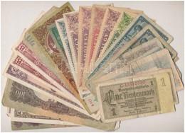 24db Vegyes Magyar és Külföldi Bankjegy T:III,III- - Monnaies & Billets