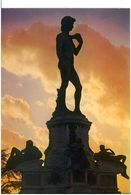 Cart289 Firenze Statua David Piazzale Michelangelo Tramonto Sunset - Contre La Lumière
