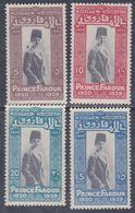 Egypte N° 134A / 39A X  9è Anniversaire De La Naissance Du Prince Farouk, Les 4 Valeurs Trace De Charnière Sinon TB - Egypt