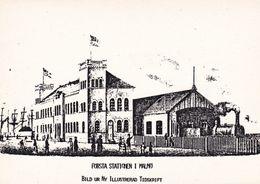 Suede Sweden Första Station In Malmö - Gares - Avec Trains