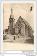 SAINT - LEGER ..-- L' Eglise . 19?? Vers NIL - SAINT - VINCENT ( Mme MICHIELS ) . Voir Verso . - Saint-Léger