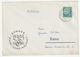 Bund Michel Nr. 181 X EF Bonner Bach-Gemeinschaft Bad Godesberg 22.9.58, 3 Scans - [7] Federal Republic