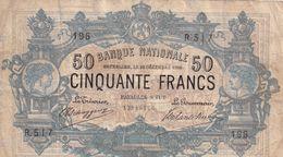 Belgium 50 Francs 1908 - [ 2] 1831-... : Royaume De Belgique