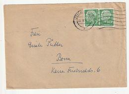 Bund Michel Nr. 183 X MeF Aachen 22.11.56 Nach Bonn, 3 Scans - [7] Federal Republic