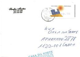 TIMBRES- STAMPS - FRANCOBOLLI - LETTRE - MARCOPHILIE - PORTUGAL - 2006 - ÉNERGIE SOLAIRE - TIMBRE ATM AMIEL AUTO-ADHÉSIF - Milieubescherming & Klimaat