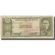 Billet, Bolivie, 10 Pesos Bolivianos, 1962, 1962-07-13, KM:154a, B - Bolivia