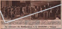 VILVORDE..1946.. LE CENTENAIRE DES ETABLISSEMENT L.A. LEGRAND - Oude Documenten