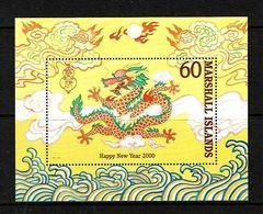 Marshall Islands 2000 Sc @ Bf 727  MNH **  Year Of The Dragon - Chines. Neujahr