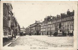 """14. Caen - Place St Sauveur - Oblitération Griffe Linéaire """"CAEN-GARE"""" 1929 - Caen"""