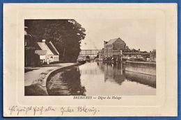 RARE CPA 62 BREBIERES - Digue Du Halage - Autres Communes