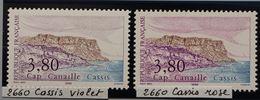 YT N° 2660 - Violet + Rose - Neufs ** - Errors & Oddities