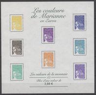 N°43  Y.T. France Bloc Feuillet 2002 Les Couleurs De Marianne En Euros Les Valeurs De La Monnaie 1/2 - Ongebruikt