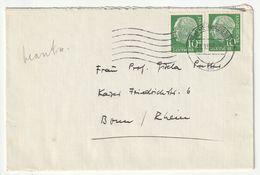 Bund Michel Nr. 183 X MeF Heidelberg 31.12.56 Nach Bonn, 3 Scans - [7] Federal Republic