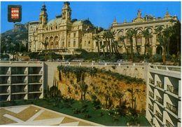 Cart328 Montecarlo Monaco Facade Arriere Du Casino Et Du Theatre Depuis Terrasses Hotel Loews - Casino