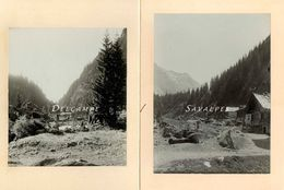 Suisse Valais Martigny * Fionnay Bagnes* 2 Photos Originales 1902 - Voir Scans - Places