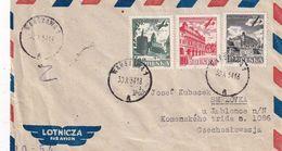 POLOGNE 1954 PLI AERIEN   DE WARSZAWA - 1944-.... Republic
