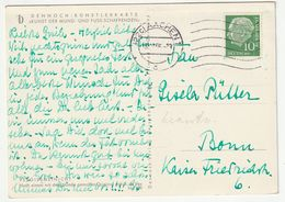 Bund Michel Nr. 183 X EF Aachen 15.10.56 Nach Bonn, 3 Scans - [7] Federal Republic