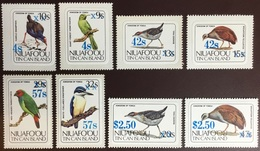 Tonga Niuafo'ou 1986 Birds Definitives Surcharges Set MNH - Pájaros