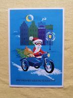 New Year Santa Motorcycle Ein Frohes Weihnachtsfest - Neujahr