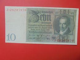 """Reichsbanknote 10 Reichsmark 1929 """"J"""" CIRCULER (B.17) - 10 Mark"""