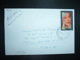 LETTRE TP YT 2897 YVONNE PRINTEMPS 2,80+0,60 OBL.12-1 1995 974 LES TROIS BASSINS REUNION - Postmark Collection (Covers)