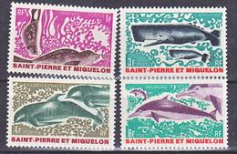 Saint Pierre Et Miquelon  391 394 Animaux Marins  Neuf ** MNH Sin Charmela Cote 21.8 - St.Pierre & Miquelon