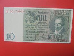 "Reichsbanknote 10 Reichsmark 1929 ""E"" CIRCULER (B.17) - 10 Mark"