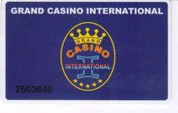 BULGARIA KEY CASINO Grand Casino International  -     Golden Sands - Cartes De Casino