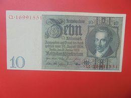 """Reichsbanknote 10 Reichsmark 1929 """"Q"""" CIRCULER (B.17) - 10 Mark"""