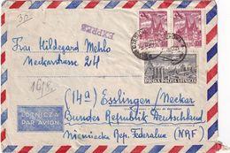 POLOGNE 1957 PLI AERIEN EXPRES DE CZESTCHOWA - 1944-.... Republic