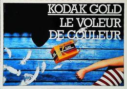 Carte Postale     Publicité    Kodak Gold   Voleur De Couleur Pellicule - Matériel & Accessoires