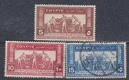 Egypte N° 141 / 43 O 14è Exposition Agricole Et Industrielle, Les 3 Valeurs Oblitérées, TB - Egypt