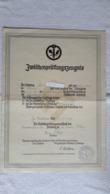 Zwischenprüfungszeugnis Innung Des Damenschneiderei - Handwerk Zossen 1941 Lehrling Zeugnis - 1939-45