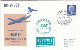 DC - 9 - JET - First Flight SAS KOPENHAGEN BALE - 2 Scannes - 1946-....: Ere Moderne