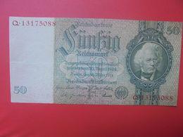 Reichsbanknote 50 Reichsmark 1933 TYPE 3 CIRCULER (B.17) - [ 4] 1933-1945: Derde Rijk