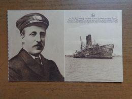 Boot, Bateau, Boat / Le SS Brussels, Renfloué Et Sons Héroique Capitaine Fryatt --> Onbeschreven - Guerre