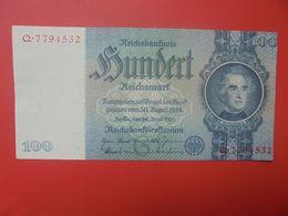 Reichsbanknote 100 Reichsmark 1933 TYPE 1 CIRCULER (B.17) - [ 4] 1933-1945: Derde Rijk