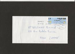 Lettre Avec Vignette Lettre Verte 0.97 €  FRANCE 39289A DU 06/07/202 OBLITERATION RONDE  RELAIS POSTE AUCHAN DRIVE LILLE - France