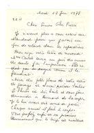 Lettre Manuscrite 1978 Simone Pierre Toret Contat Beclere Billy Villejuif - Manuscrits
