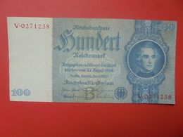 Reichsbanknote 100 Reichsmark 1933 TYPE 2 CIRCULER (B.17) - [ 4] 1933-1945: Derde Rijk