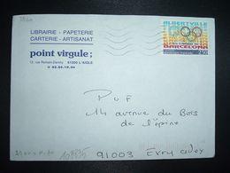 LETTRE TP YT 2760 ALBERTVILLE BARCELONA 2,50 OBL.MEC.21-9 1992 61 L'AIGLE ORNE + LIBRAIRIE POINT VIRGULE - Marcofilia (sobres)