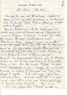 Lettre Manuscrite 1978 Simone Pierre Toret Contat Jersey - Manuscrits