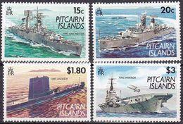 Pitcairn Islands, 1993, 408/11 , MNH **, Kriegsschiffe. - Stamps