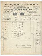 ARGENTEUIL  Facture 1924  Manufacture De Caoutchouc CH.MAGNANT & Cie - France